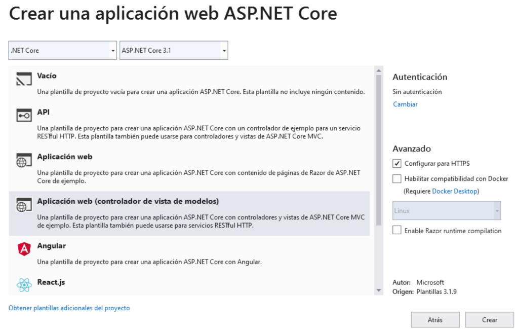 Aplicación ASP.Net Core Active Directory B2C