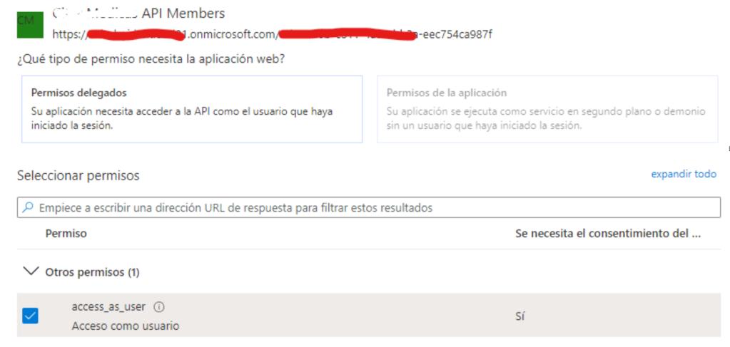 Permisos API Active Directory B2C